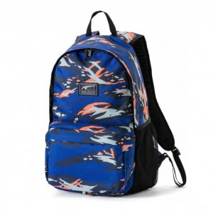 PUMA Academy Backpack Peacoat-Camo AOP modrá