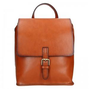 Elegantní dámský kožený batoh Katana Petra – světle modrá