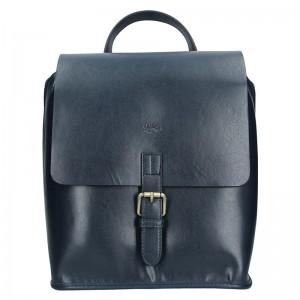 Elegantní dámský kožený batoh Katana Petra – tmavě modrá