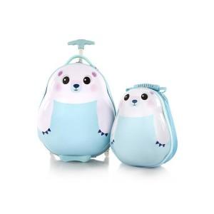 Heys Travel Tots Kids dětská sada – cestovní kufr 46 cm a batoh 33 cm Polar Bear