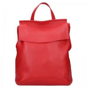 Dámský kožený batoh Facebag Stella – červená