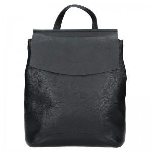 Dámský kožený batoh Facebag Stella – černá
