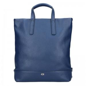 Dámská kožená batůžko-kabelka Daag Marcela – modrá