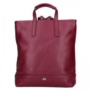 Dámská kožená batůžko-kabelka Daag Marcela – vínová