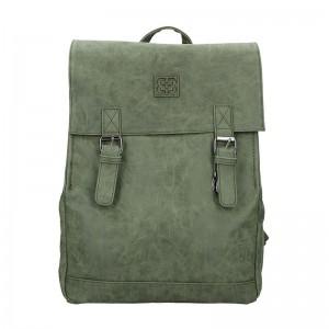 Moderní dámský batoh Enrico Benetti Vilma – tmavě zelená