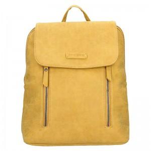 Moderní dámský batoh Enrico Benetti Tinna – žlutá 0,650l