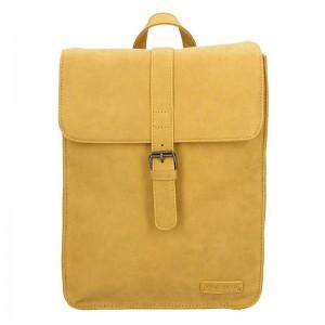 Moderní dámský batoh Enrico Benetti Silva – žlutá