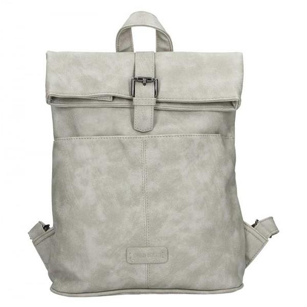 Moderní dámský batoh Enrico Benetti Gretta – světle šedá