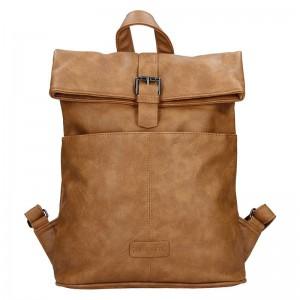 Moderní dámský batoh Enrico Benetti Gretta – hnědá
