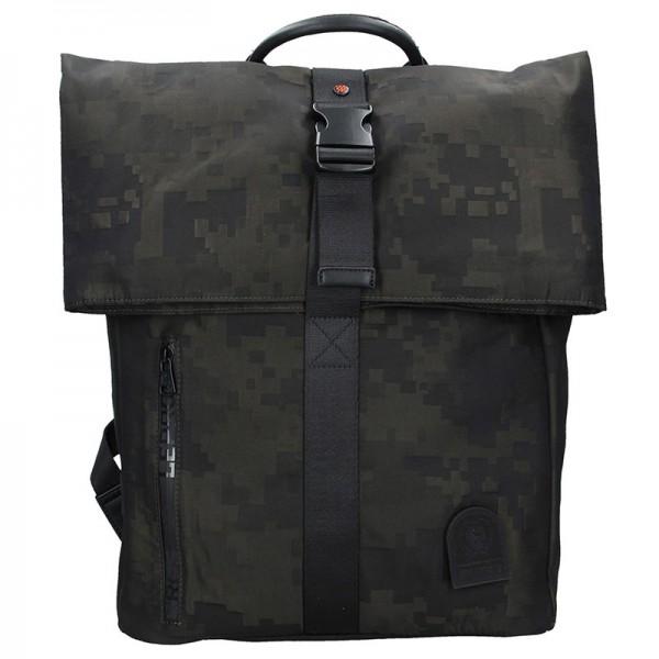 Pánský batoh Lerros Dominic – černo-zelená
