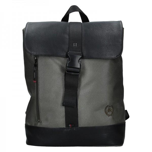 Pánský vintage batoh Lerros Alfred – šedo-černá
