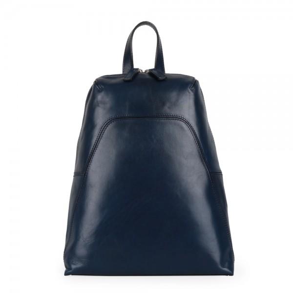 Elega Dámský kožený batoh Merry 67245 – tmavě modrá