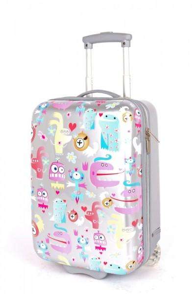 Madisson Dětský kabinový cestovní kufr A85118 28 l – stříbrný