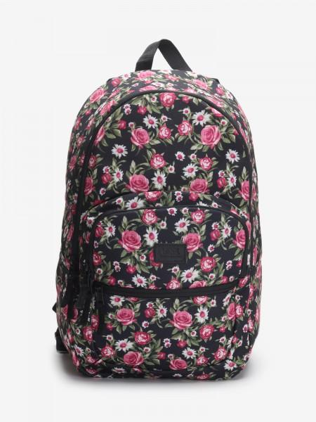 Batoh Vans Wm Motiveatee Backck Black Floral Černá 738443