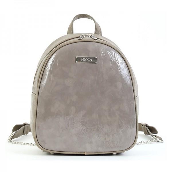 Dámský batoh Doca 15535 – tmavě béžová