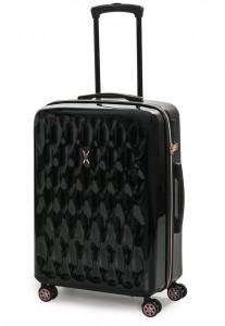 ROCK LONDON Skořepinový cestovní kufr Diamond M 62 l – černá