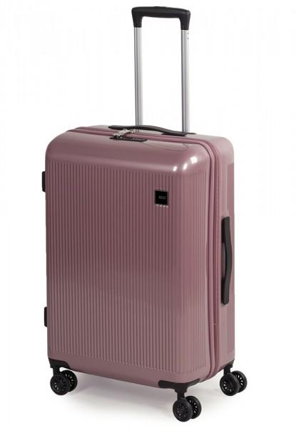 ROCK LONDON Skořepinový cestovní kufr Windsor M 63 l – růžová