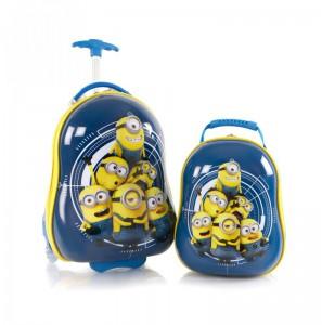 Heys Kids dětská sada – cestovní kufr 46 cm a batoh 33 cm Minions