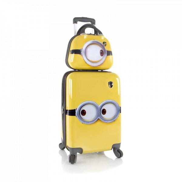 Heys Kids dětská sada – 4w cestovní kufr 46 cm a kosmetický kufřík Minions