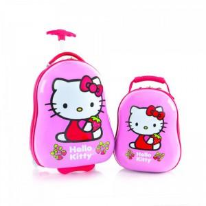 Heys Kids dětská sada – 2w cestovní kufr 46 cm a batoh 33 cm Hello Kitty