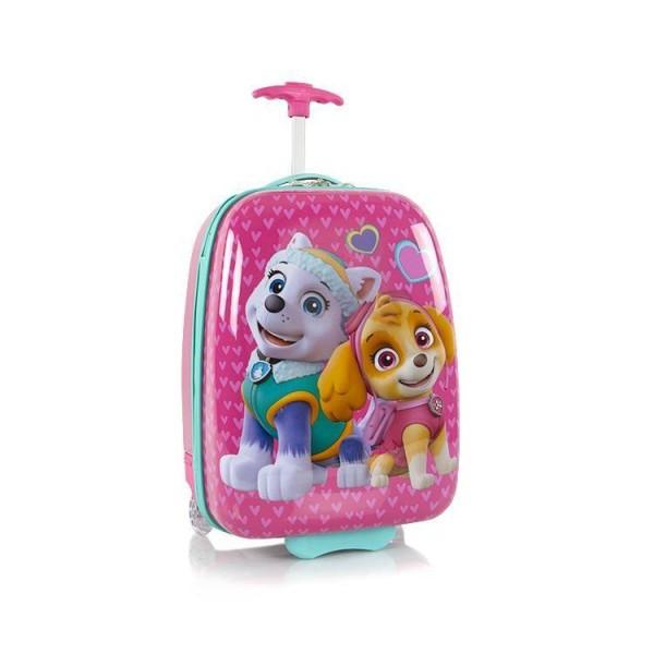 Heys Kids 2w Paw Patrol dětský cestovní kufr 46 cm Turquoise-pink