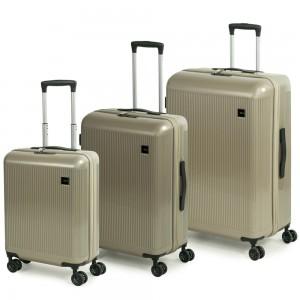 ROCK LONDON Sada cestovních kufrů Windsor S + M + L, champagne