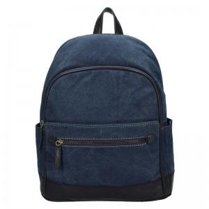 Pánský batoh Lagen Erik – modro-hnědá