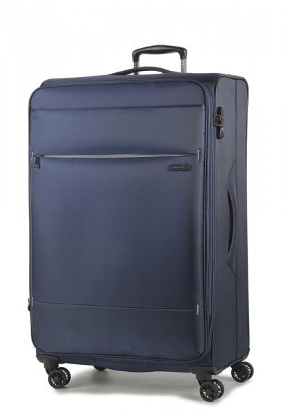ROCK LONDON Cestovní kufr Deluxe-Lite L 109/117 l – tmavě modrá