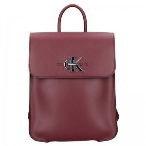 Dámský batoh Calvin Klein Jeans Lussy – vínová