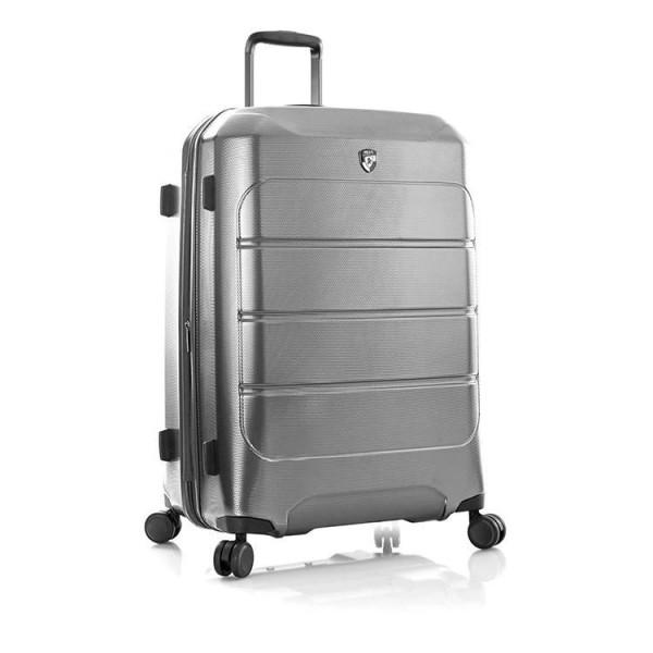 Heys Velký cestovní kufr Heys EcoCase L šedá 125 l