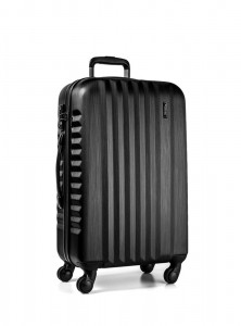 March Skořepinový cestovní kufr M Ribbon SE 61,5 l – černá