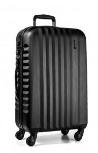 March Skořepinový cestovní kufr L Ribbon SE 97,5 l – černá