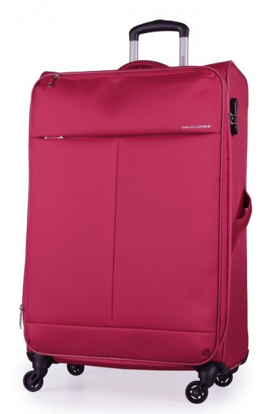 David Jones Paris Látkový cestovní kufr L BA-5043-3F 78 l – růžová
