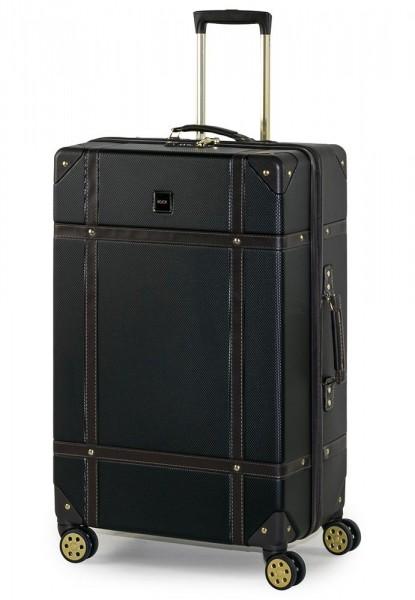 ROCK LONDON Cestovní kufr Vintage L 88 l – černá