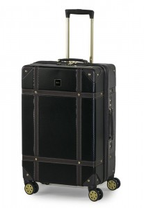 ROCK LONDON Cestovní kufr Vintage M 61 l – černá