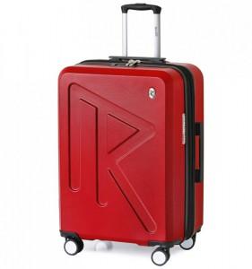 Raido Numero Uno M cestovní kufr TSA 65 cm 66-83 l Red Mood Line