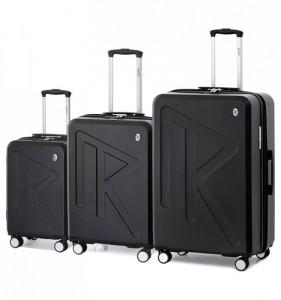 Raido Numero Uno S/M/L sada 3 cestovních kufrů 55/65/78 cm Black Mood Line