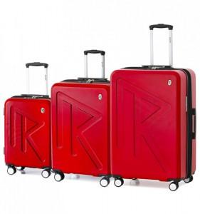 Raido Numero Uno S/M/L sada 3 cestovních kufrů 55/65/78 cm Red Mood Line