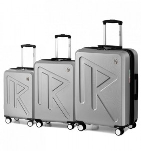 Raido Numero Uno S/M/L sada 3 cestovních kufrů 55/65/78 cm Silver Mood Line