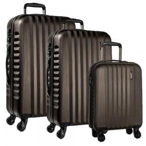 March Sada cestovních kufrů Ribbon SE S + M + L, bronzová