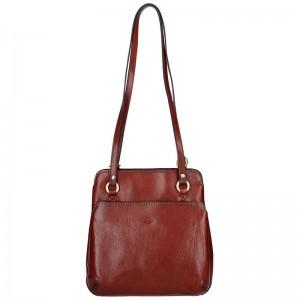 Dámská kožená batůžko kabelka Katana Emily – hnědá