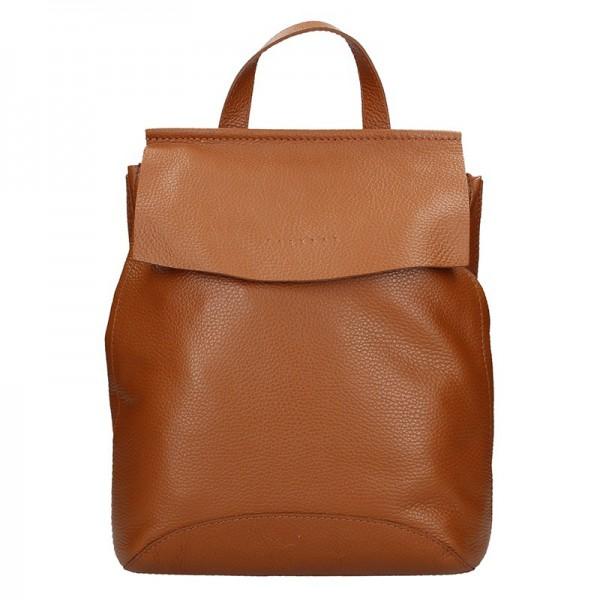Dámský kožený batoh Facebag Stella – hnědá