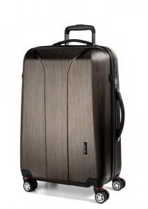 March Skořepinový cestovní kufr New Carat SE L 105 l – bronzová