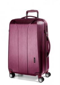 March Skořepinový cestovní kufr New Carat SE L 105 l – růžová