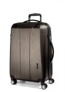 March Skořepinový cestovní kufr New Carat SE M 72 l – bronzová