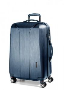 March Skořepinový cestovní kufr New Carat SE M 72 l – modrá