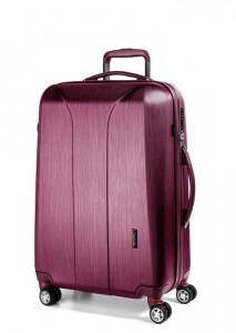 March Skořepinový cestovní kufr New Carat SE M 72 l – růžová