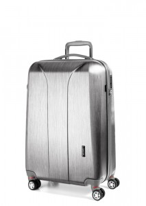 March Kabinový cestovní kufr New Carat SE S 34,5 l – stříbrná