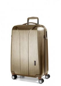 March Kabinový cestovní kufr New Carat SE S 34,5 l – zlatá