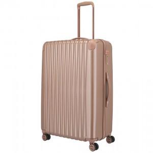 Titan Skořepinový cestovní kufr Barbara Glint L Rose metallic 100 l